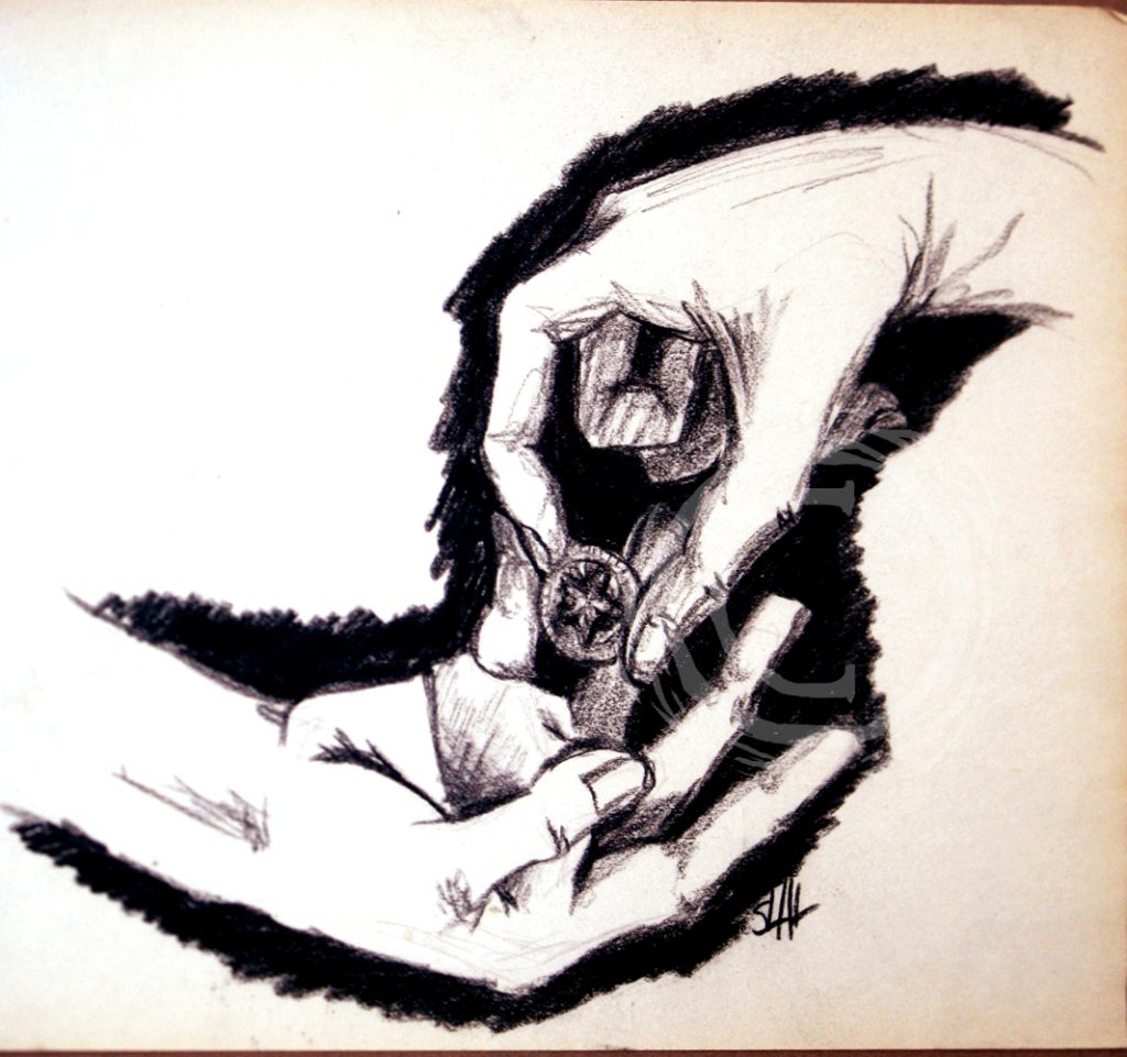 Created for a table-top RPG, Arnhack, this series is strictly charcoal on paper and follows the game's surreal horror aesthetic. Charcoal on Paper