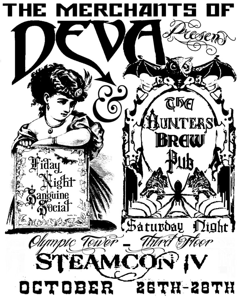 This menu design wan made for the nonprofit Merchants of Deva in their 2012 Steamcon event. All copyrights belong to that client.