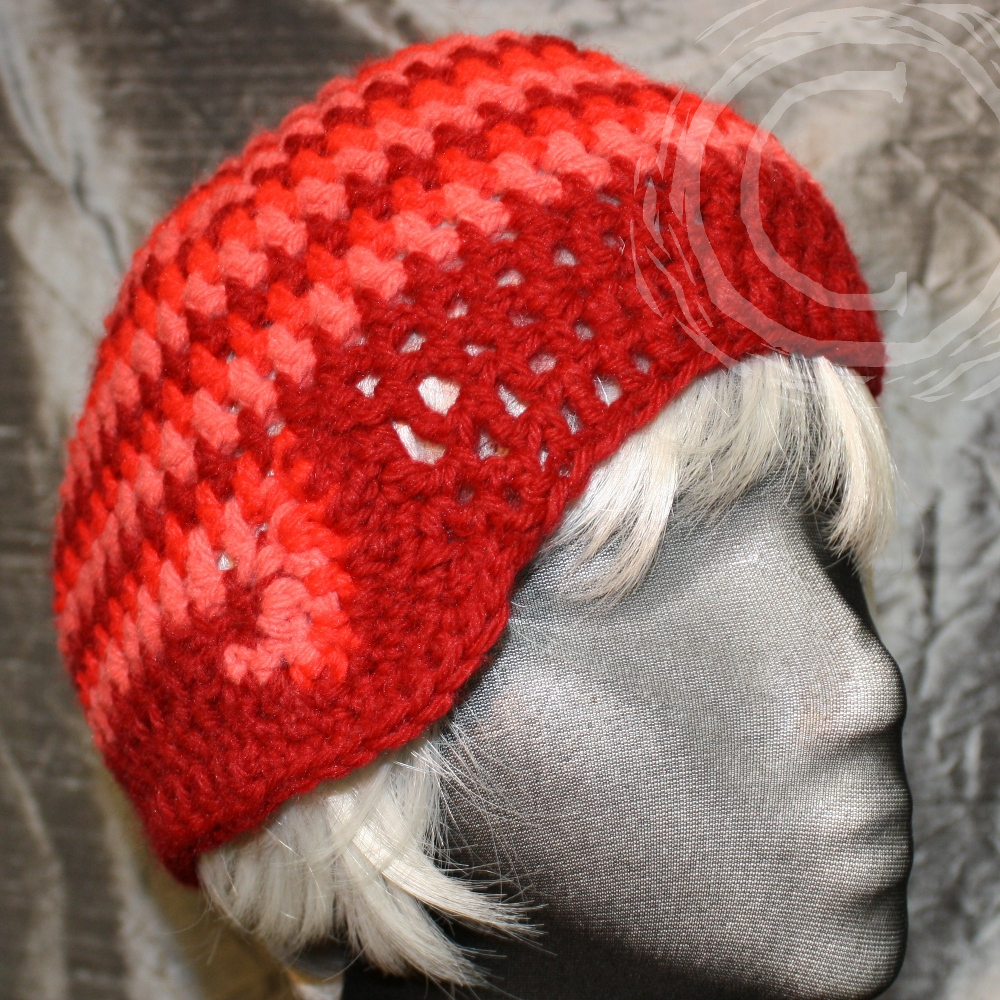 This hand crochet cloche hat uses my three strand crochet technique and then reverses it to make a backwards curl in the spiral pattern.