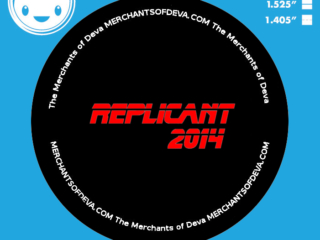 This button design was created for the nonprofit Merchants of Deva in their 2014 NorWesCon event with a Bladerunner theme. All copyrights belong to that client.