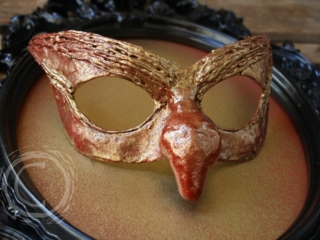 This mask is inspired by the movie Labyrinth and is a wearable piece similar to the masks on the goblins in the ballroom scene.
